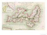 Map of the Island of Elba, 1814 Giclee Print by Baron Louis Albert Bacler D'albe