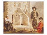 Peasants Before Their House, circa 1641 Giclee Print by Louis Le Nain