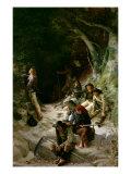 The Ambush Giclee Print by Charles Alexandre Coessin De La Fosse