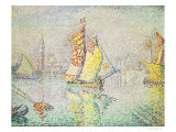 The Yellow Sail, Venice, 1904 Gicleetryck av Paul Signac