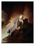Jeremiah Mourning Over the Destruction of Jerusalem, 1630 Giclée-Druck von Rembrandt van Rijn