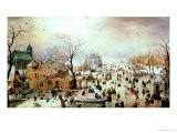 Winter Games Giclee Print by Hendrik Avercamp