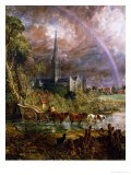 Salisbury Cathedral from the Meadows, 1831 Giclee Print by John Constable