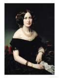 Portrait of the Baroness of Weisweiller, 1853 Giclee Print by Federico de Madrazo y Kuntz