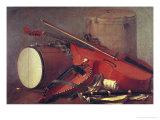 Musical Instruments Premium Giclee Print by Henri Horace Roland De La Porte