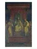 Institution of the Order of the Templars in 1128, 1840 Giclee Print by Francois-Marius Granet