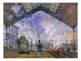 La gare Saint Lazare, 1877 Reproduction proc&#233;d&#233; gicl&#233;e par Claude Monet
