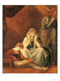 "Here I and Sorrow Sit"", Act II Scene I of ""King John"" by William Shakespeare 1783 Giclee Print by Henry Fuseli"