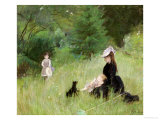 In a Park, circa 1874 Giclee Print by Berthe Morisot