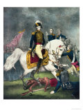 General William H. Harrison at the Battle of Tippecanoe, 1840 Giclee Print by  Currier & Ives