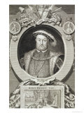 Henry VIII, after a Painting in the Royal Gallery at Kensington Lámina giclée por George Vertue