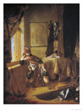 A Warrior in Thought Giclee Print by  Rembrandt van Rijn