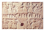 Votive Plaque Depicting an Offering Scene, from Diyala, Early Dynastic Period, 2600-2500 BC Giclee Print by  Mesopotamian