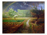 Printemps à Barbizon, 1868-73 Reproduction procédé giclée par Jean-François Millet