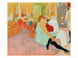 In the Salon at the Rue des Moulins, 1894 Lámina giclée por Henri de Toulouse-Lautrec