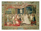 The Meeting of Philip IV of Spain and Louis XIV on the Island of Pheasants Giclee Print by Charles Le Brun