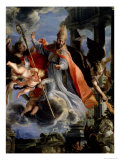 The Triumph of St. Augustine 1664 Giclee Print by Claudio Coello
