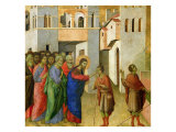 Jesus Opens the Eyes of a Man Born Blind, 1311 Giclee Print by Duccio di Buoninsegna