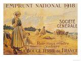 Poster for the Loan for National Defence from the Societe Generale, 1918 Giclee Print by B. Chavannaz