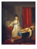 The Murder of Marat, 13th July 1793 Giclee Print by Jean-Jacques Hauer