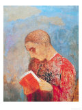 Alsace Or, Monk Reading, circa 1914 Giclee Print by Odilon Redon