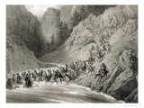 Tcherkersseians on a Raid Near the Black Sea, Plate 4 Giclee Print by Grigori Grigorevich Gagarin