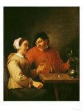 Drinkers Giclee Print by Adriaen Brouwer