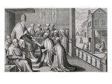 Pope Paul III Receiving the Rule of the Society of Jesus, 1540 Giclee Print by C. Malloy
