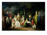 Paul I, Maria Feodorovna and Their Children, circa 1800 Giclee Print by Franz Gerhard von Kugelgen