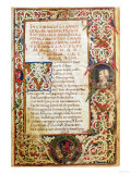 "Song in Praise of Laure, from ""Sonetti, Canzoni E Triomphi"" by Petrarch 1470 Giclee Print"