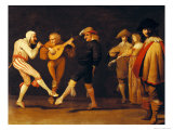 Farce Actors Dancing Giclee Print by Pieter Jansz. Quast