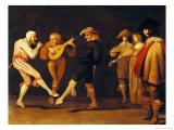 Farce Actors Dancing Giclee Print by Pieter Jansz. Quast