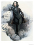 Caricature of George Sand circa 1848 Giclee Print by Alcide Joseph Lorentz