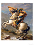 Napoleon Crossing the Alps at the St. Bernard Pass, 20th May 1800, circa 1800-01 Gicléetryck av Jacques-Louis David