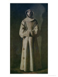 St. Francis 1645-64 Giclee Print by Francisco de Zurbar&#225;n