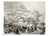 Soulak Pass at Akhati, Dagestan, Plate 61 from a Book on the Caucasus, Paris, 1847 Giclee Print by Grigori Grigorevich Gagarin