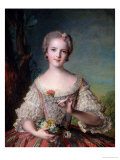 Portrait of Madame Louise de France at Fontevrault, 1748 Reproduction proc&#233;d&#233; gicl&#233;e par Jean-Marc Nattier