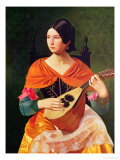 Young Woman with a Mandolin, 1845-47 Giclee Print by Vekoslav Karas