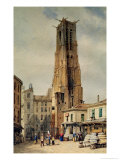 Tour Saint-Jacques Giclee Print by Francois Etienne Villeret