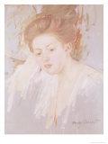 Head of a Young Girl Lámina giclée por Mary Cassatt