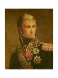 Portrait of Jean Lannes Duke of Montebello Giclee Print by Francois Gerard