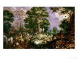 Garden of Eden Giclee Print by Roelandt Jacobsz. Savery