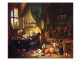 An Alchemist in His Workshop Giclee Print by David Teniers the Younger