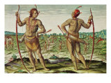 "Inhabitants of Virginia, from ""Admiranda Narratio..."", Published by Theodore de Bry Giclee Print by Theodor de Bry"