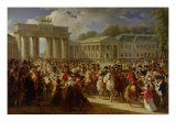 Entry of Napoleon I into Berlin, 27th October 1806, 1810 Giclee Print by Charles Meynier