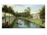 The Water Gardens of Chiswick House Giclee Print by Peter Rysbrack