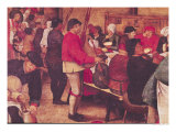 The Wedding Supper, Detail from the Left Hand Side Giclee Print by Pieter Brueghel III
