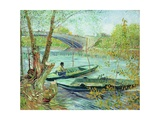 Fishing in the Spring, Pont de Clichy, c.1887 Giclee Print by Vincent van Gogh