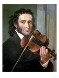 Dortrait of Niccolo Paganini Reproduction procédé giclée