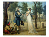 Incroyable et Merveilleuse in Paris, 1797 Giclee Print by Louis Leopold Boilly